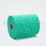 Teal Sequin Heart Tulle Roll
